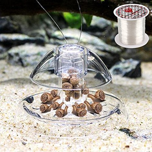 Senzeal Snail Trap Plastic Trap Hands on Catcher with Fishing Line for Aquarium (Aquarium Snail Chemical)