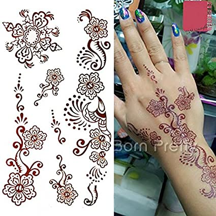 New 2007 Products Mehndi Paisley Flower Decals Henna Waterproof