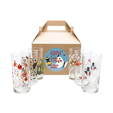 Charley Harper Wine Glasses Set of 6 by Todd Oldham