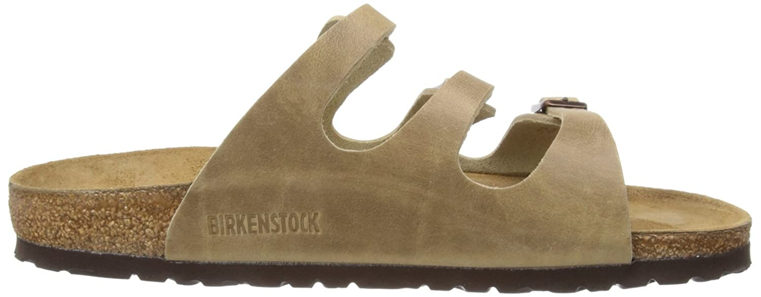 Amazon.com   Birkenstock Sandals ''Florida'' from Leather in Tabacco Brown  39.0 EU W   Slippers