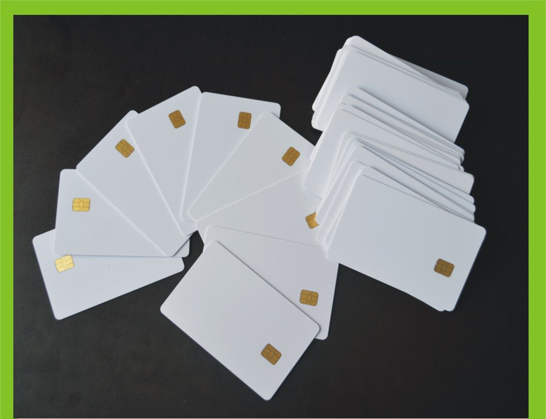 100 PCs Contact IC card SLE4442 Chip Smart Card PVC White No Printing KingGo Electronics 4331026352
