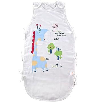 fzw Verano bebé gasa transpirable con saco de dormir verano bebé chaleco saco de dormir niño anti-kick edredón (Color : Azul): Amazon.es: Bebé