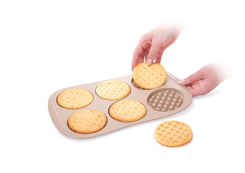 36.9 x 21.6 x 1.8 cm Tescoma 629534 Stampo per Waffle Silicone Nocciola