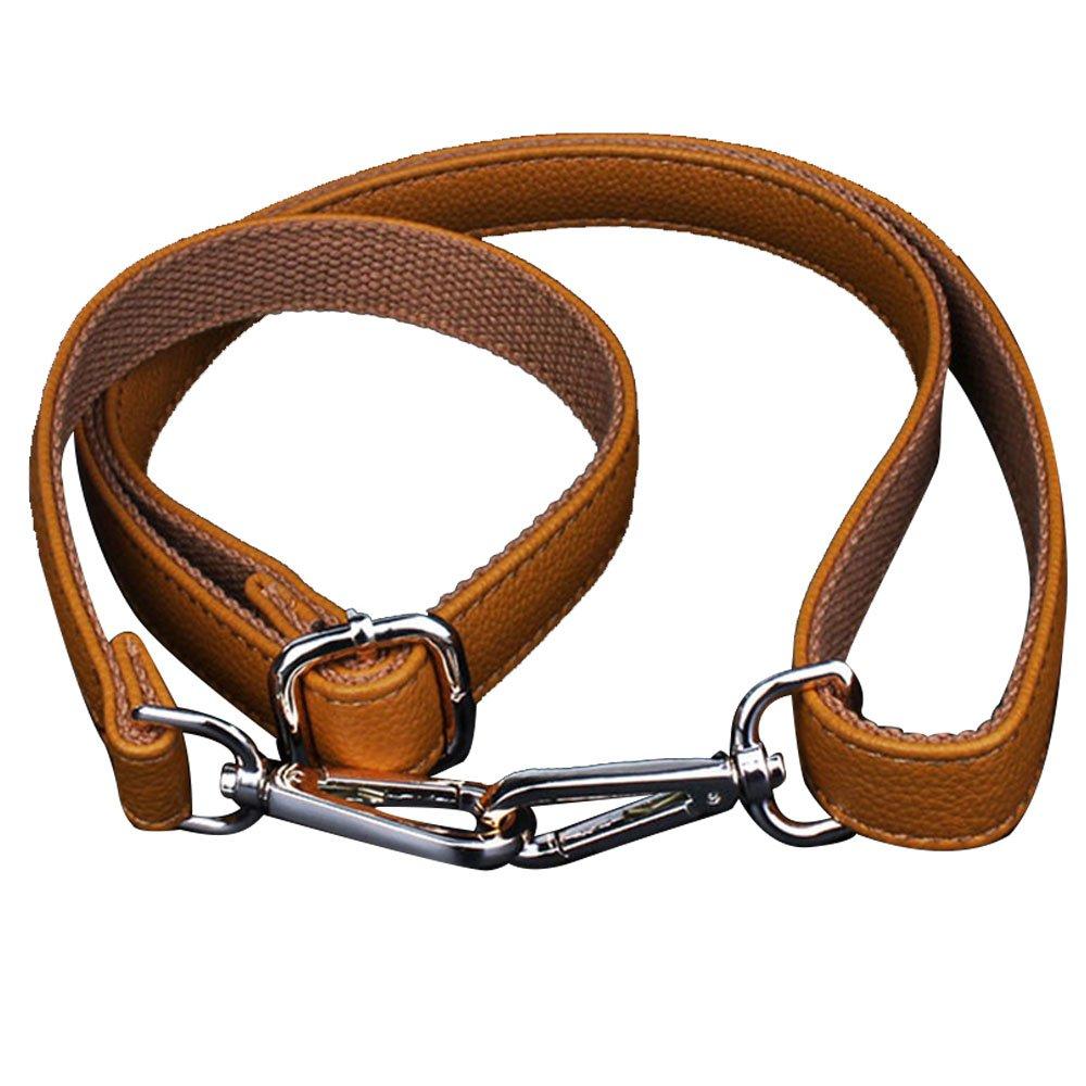 120cm Long PU Leather Adjustable DIY Replacement Handbag Purse Bag Strap Shoulder Strap Cross-Body Strap with Buckle Beige Gosear