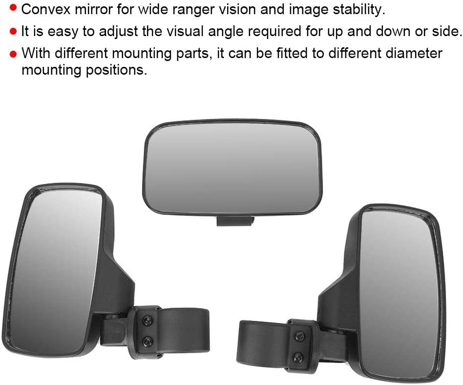 Hlyjoon UTV Offroad ATV Center View /& Side View Mirror 8 x 4.5inch para 2Roll Cage Fit para Ranger RZR XP1000 Rangers Arctic Cat Can-Am
