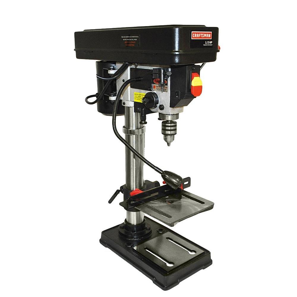 Bench Pillar Drill Part - 37: Craftsman 10 In Bench Drill Press W/ Laser Trac - Power Magnetic Drill  Presses - Amazon.com