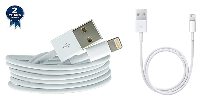 MOBILZA Power Bank Charging Data Cable Combo for iPhone 5S 6 6S  amp; 6S Plus 10 cm White Mobile Accessories