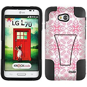 Trek Hybrid Stand Case Victorian Pattern Rose Petal on White for LG L70