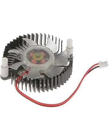 MagiDeal Refrigerador Ventilador de Tarjetas Gráficas Accesorios Odenador de Aluminio Negro con Conector Hembra de 2