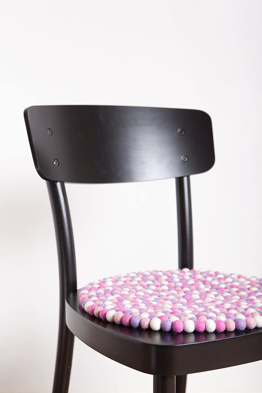 myfelt Filzkugel Sitzauflage//Stuhlauflage Schurwolle Rosa 36 x 36 x 1.5 cm