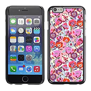 A-type Arte & diseño plástico duro Fundas Cover Cubre Hard Case Cover para Apple (5.5 inches!!!) iPhone 6+ Plus / 6S+ Plus (Floral Spring Rose Pink Red Blue Floral)