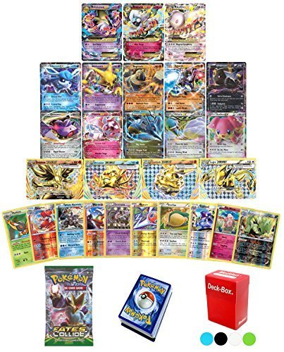 Pokemon TCG Guaranteed EX, Mega or BREAK - Fates Collide Booster Pack - 30 Card Elite Trainer Kit Lot Free Deck Box - Holo Foil Rare Common Uncommon Random Bonus - Break Common Card