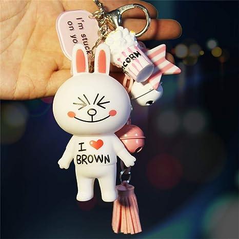 Amazon.com: ziyouniu - Llavero de conejo creativo con diseño ...