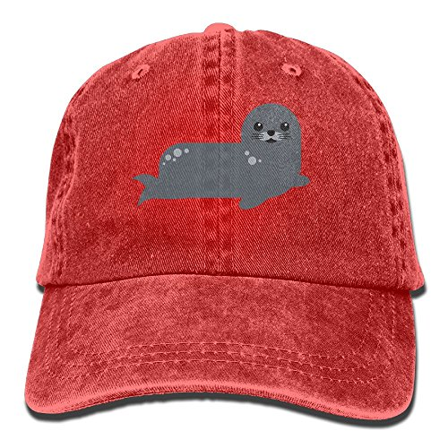 GqutiyulU Cute Seal Adult Cowboy Hat Red