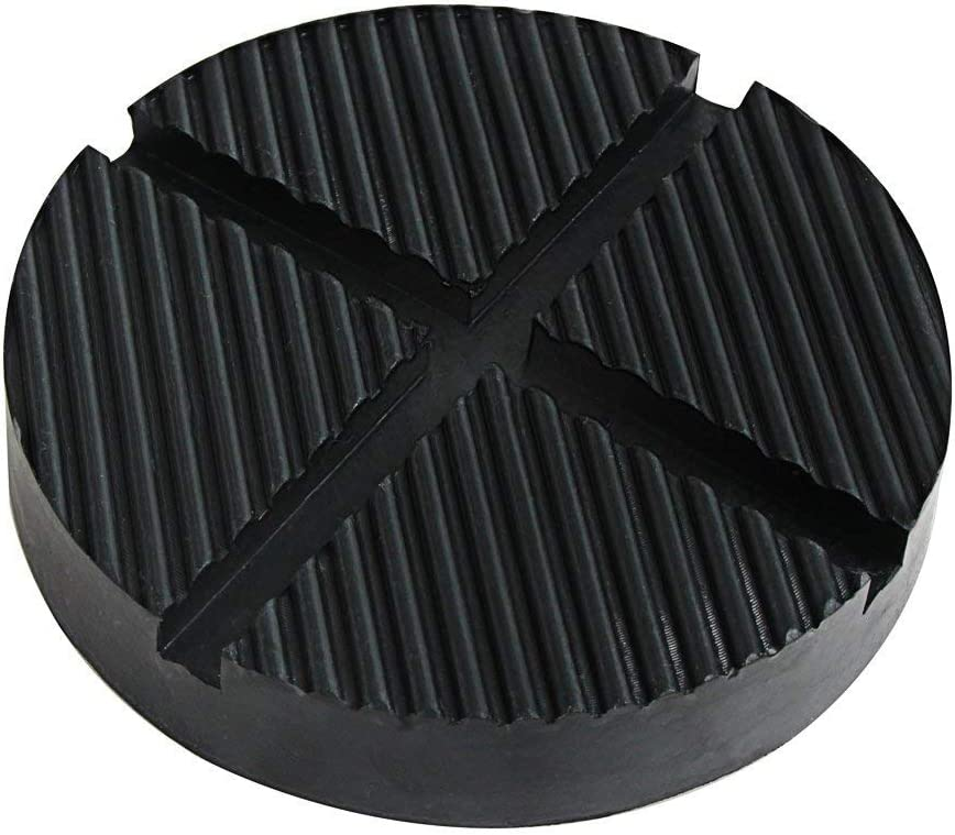 Rubber Jack Pad with Grooves ZHUBANG 125 x 26mm black for Trolly and Lifting Platforms