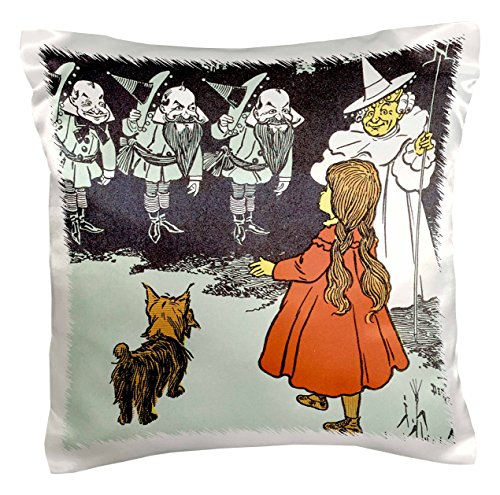 3dRose pc_162288_1 Dorothy and Toto Wizard of Oz Vintage Pillow Case, 16