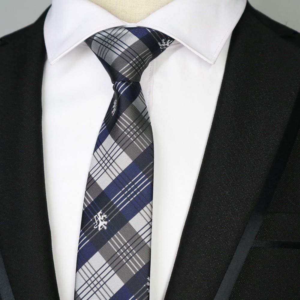 QEHWS Corbata Corbatas Estrechas para Hombre Polester Corbata ...