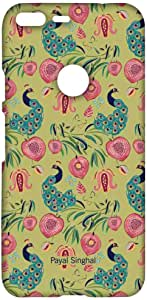 Macmerise Payal Singhal Anaar And Mor Olive Sublime Case For Google Pixel