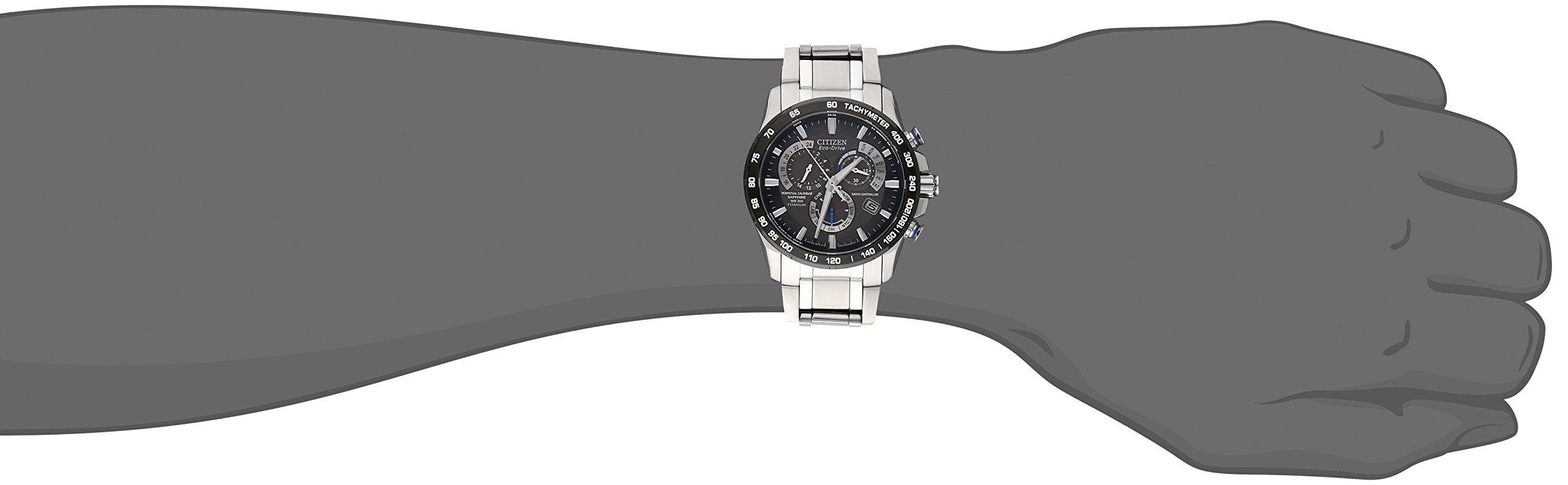 Citizen Eco-Drive Men's AT4010-50E Titanium Perpetual Chrono A-T Watch by Citizen (Image #3)