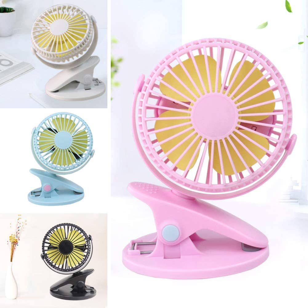 FAgdsyigao Portable USB Strong Wind Clip Desk Cooling Fan Handheld Fans Cooler for Office Home Decor Blue