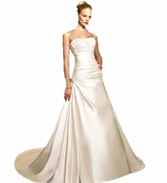TW11 Wedding Bride dress WHITE /Ivory size 8-24 Evening Dresses party full length