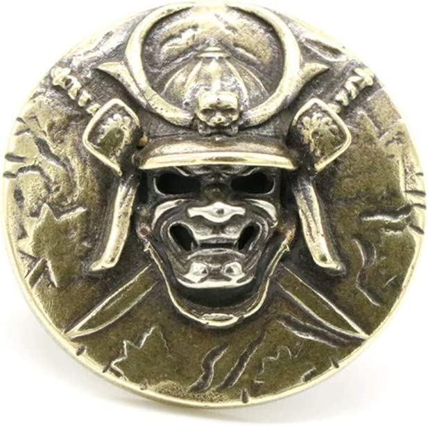 Biker Samurai Warrior Helmet Wallet Accessories Skull Wallet Chain Connector O-Ring Leathercraft Clasp Coppercraft Gift for Mens