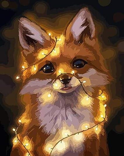 Animal sin Marco DIY Pintura Digital Moderna Mural Imagen ...