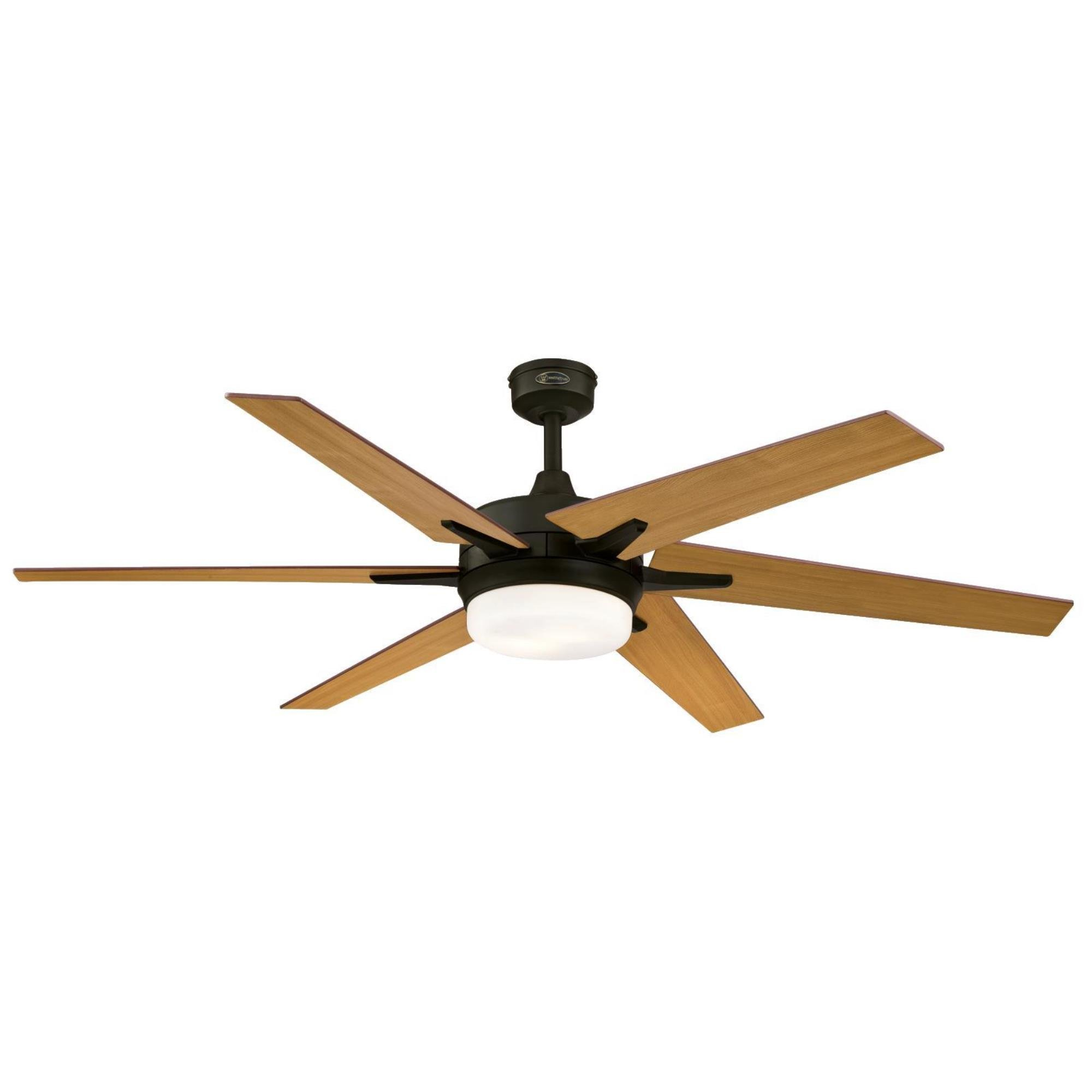 Westinghouse Lighting Remote Control Included 7207800 Cayuga 60-inch Oil Rubbed Bronze Indoor Ceiling Fan, Dimmable LED Light Kit with Opal Frosted Glass, by Westinghouse Lighting (Image #4)