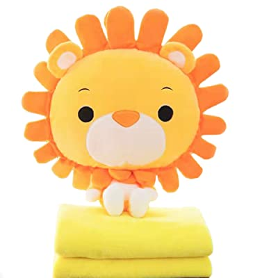 Suekoop 4 in 1 Cute Cartoon Plush Stuffed Animal Toys Throw Pillow Blanket Set with No Hand Warmer Design.: Home & Kitchen
