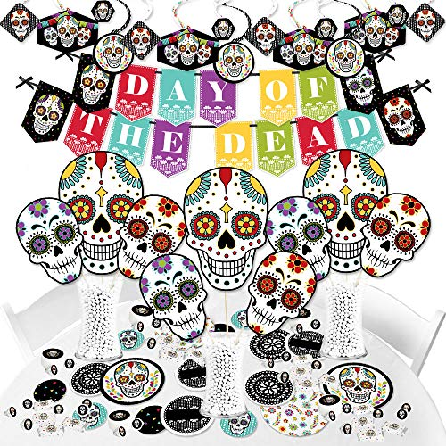 HUGE Day of the Dead Kit of Halloween Sugar Skull Party Supplies Now $41.99 (Was $77.95)