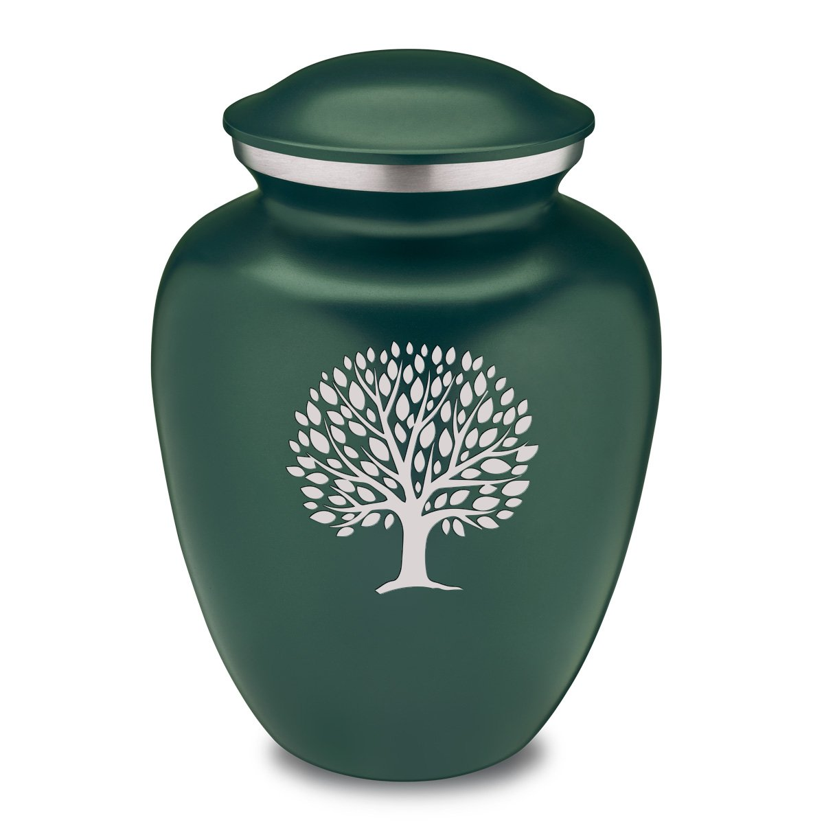 Adult Embrace Tree of Life Green Cremation Urn for Ashes