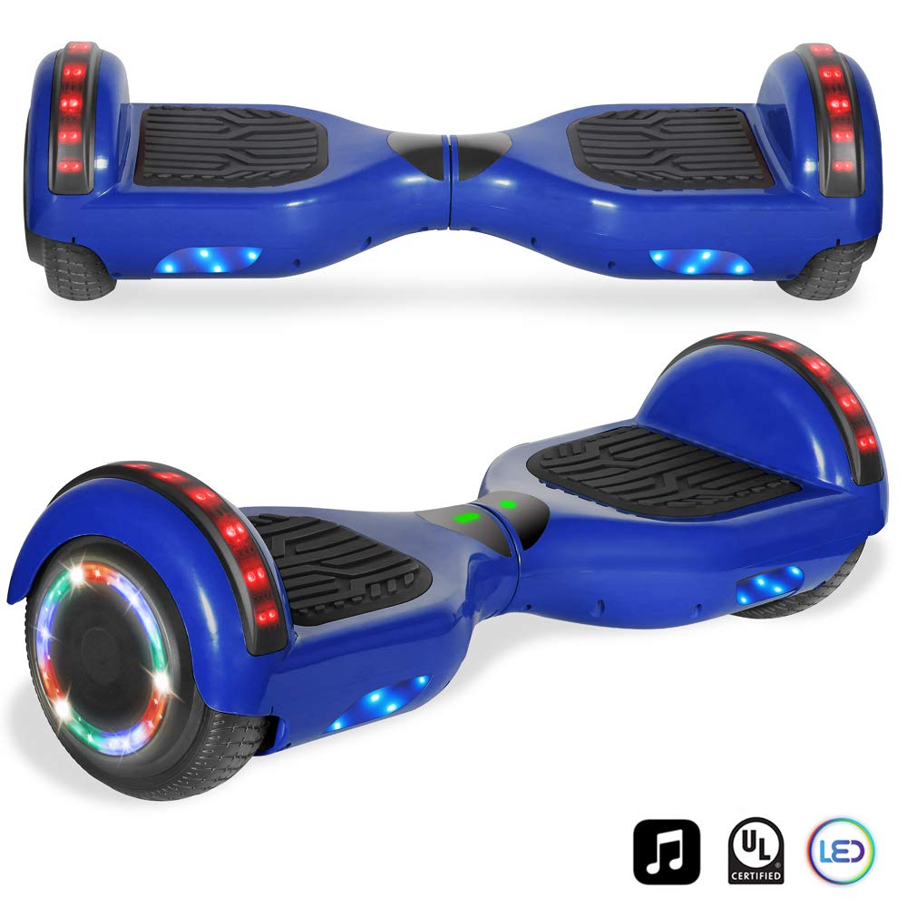cho Electric Self Balancing Dual Motors Scooter Hoverboard with Built-in Speaker and LED Lights - UL2272 Certified (4.5 Inch Blue) by cho