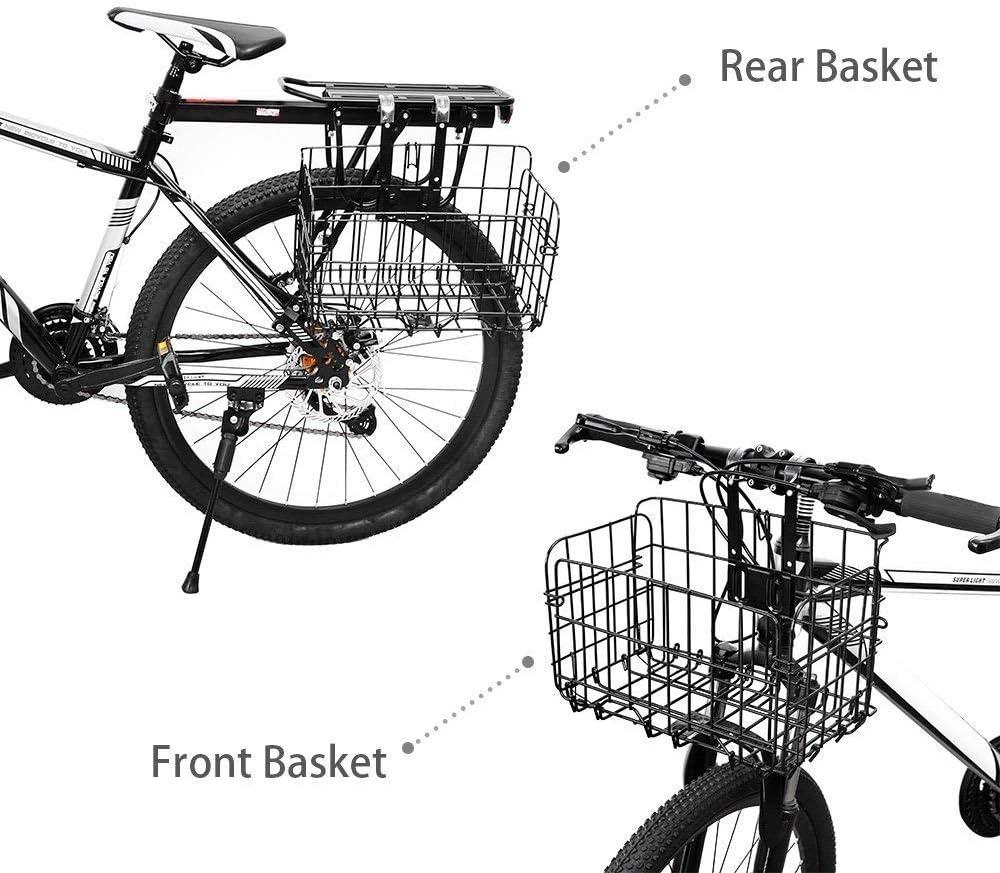Camping y Canasta al Aire Libre Canasta para Bicicleta con m/últiples Funciones para Picnic Canasta Plegable para Bicicleta Gris Cestas Delanteras para Bicicleta transportador de Mascotas