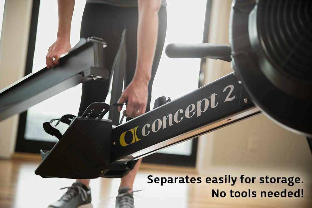 Concept2 Model E with PM5 Performance Monitor Indoor Rower Rowing Machine Black by Concept2 (Image #5)