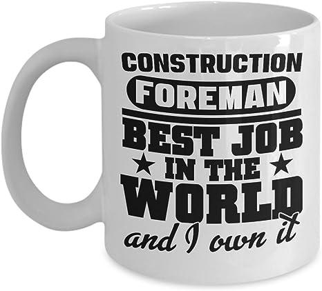 Foreman Shot Glass Novelty Birthday Present Idea Foreman Gifts World/'s Most Average Foreman