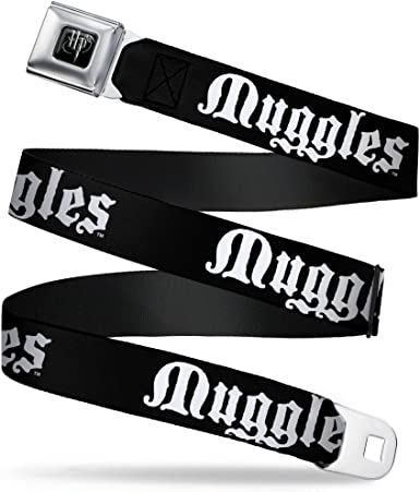 Buckle-Down Seatbelt Belt 1.0 Wide Harry Potter MISCHIEF MANAGED Black//White 20-36 Inches in Length