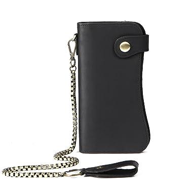 huge selection of 4801f 1e2f8 Men's Leather Wallets Chain Wallet Bifold Card Holder Purse Vintage Bikers  Wallet