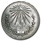 1918 MX %2D1945 Silver Mexican 1 Peso Ca