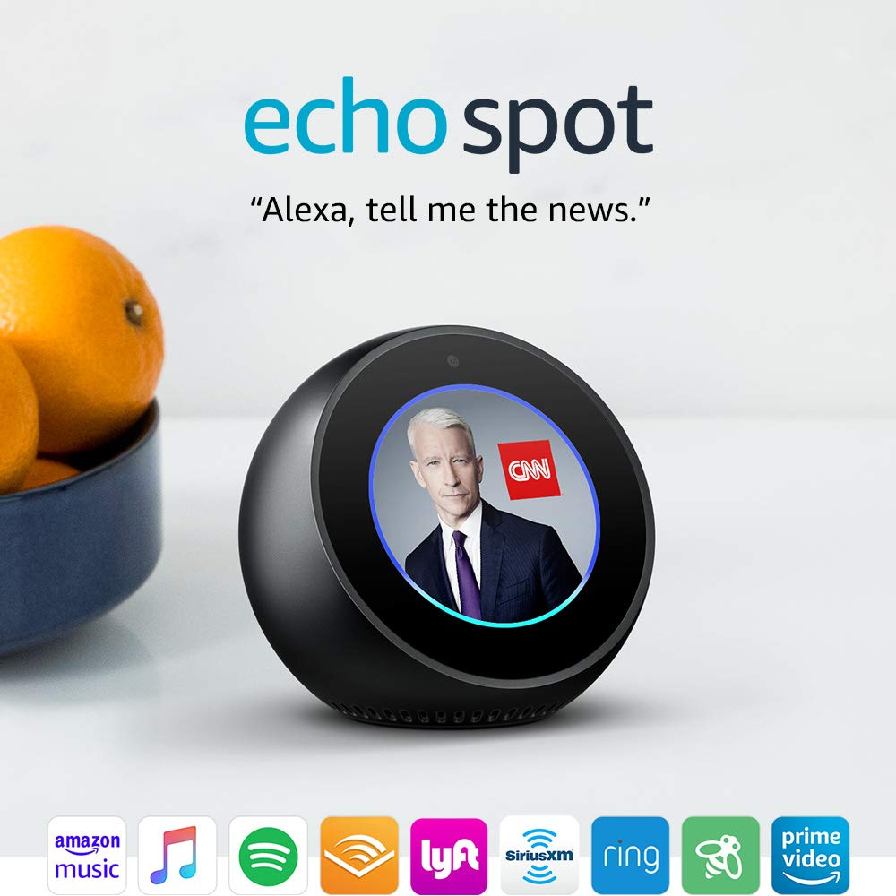 Echo Spot - Smart Display with Alexa - Black