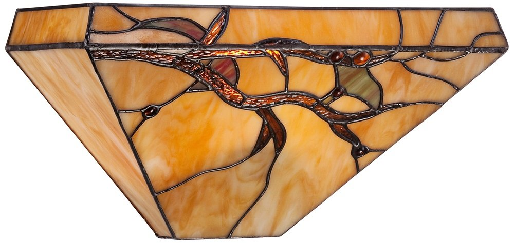 Budding Branch 14'' Wide Tiffany Style Glass Wall Sconce