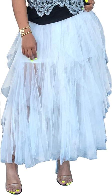 Faldas Tutú De Mujer De Alta Cintura Tul Capas Irregulares Fiesta ...