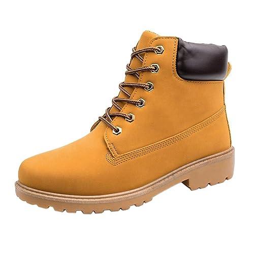 Fuyingda Nuevos Mens Casual Botas Botines Zapatos Entrenadores Lace Up Caminar Trabajo Calzado: Amazon.es: Zapatos y complementos
