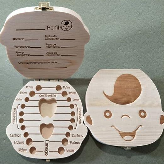 UxradG - Caja organizadora para Guardar Dientes de bebé, Caja de ...