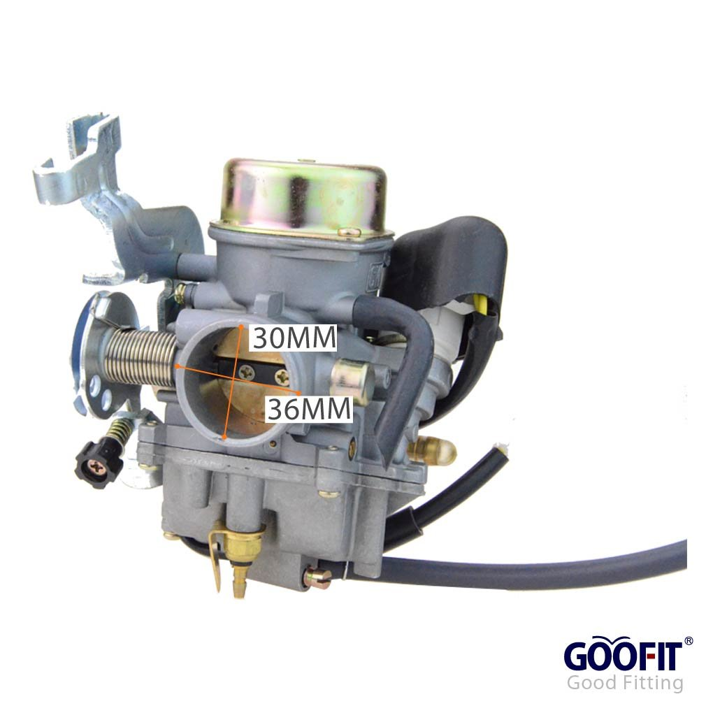 Amazon.com: GOOFIT PD30JK-1 30mm Carburetor for Sahara Krusher CVK 250cc  260cc 300cc Carb ATV Quad Bike: Automotive