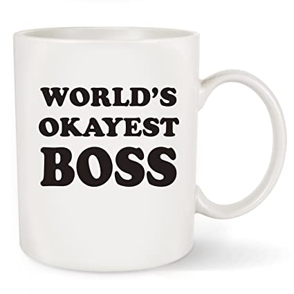 Boss Gifts Worlds Okayest Unique Birthday Gift For Men Women Him Or