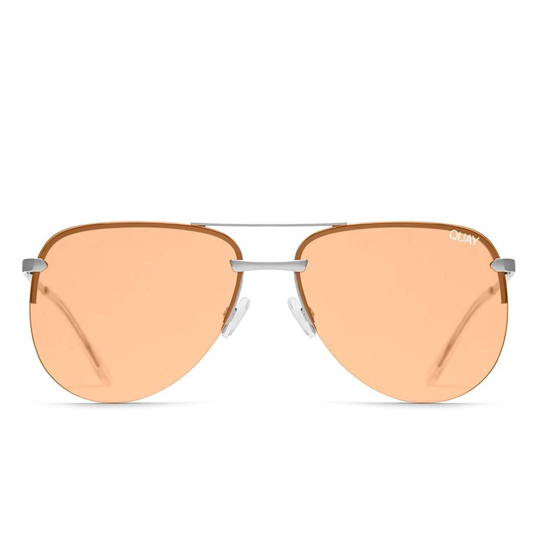 235432e72a Amazon.com  Quay Australia THE PLAYA Women s Sunglasses Frameless Aviator -  Silver Orange  Clothing