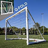 QuickPlay Q-Fold 6x4ft   The 30 Second Folding Soccer Goal for Backyard [Single Goal] The Best Weatherproof Soccer Net for Kids and Adults – 2YR Warranty – New for 2018 –