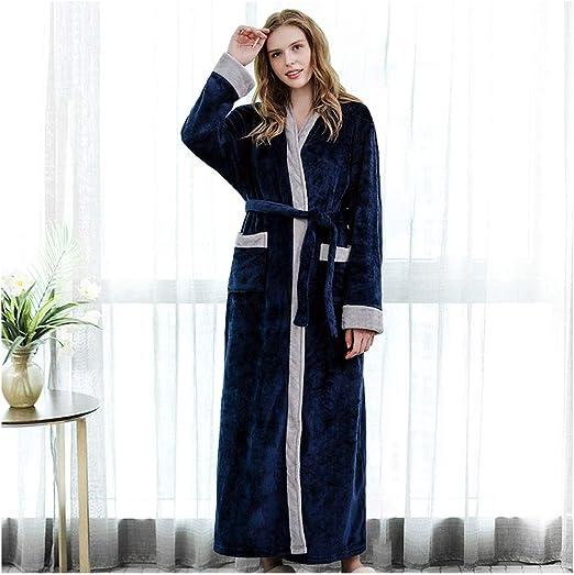 HXGpajamas Bata For Mujer Bata Kimono De Algodón Tejido De Punto Albornoz con Cuello En V Ropa De Dormir For Todas Las Estaciones Cómodo (Color : A, Size : M): Amazon.es: Hogar