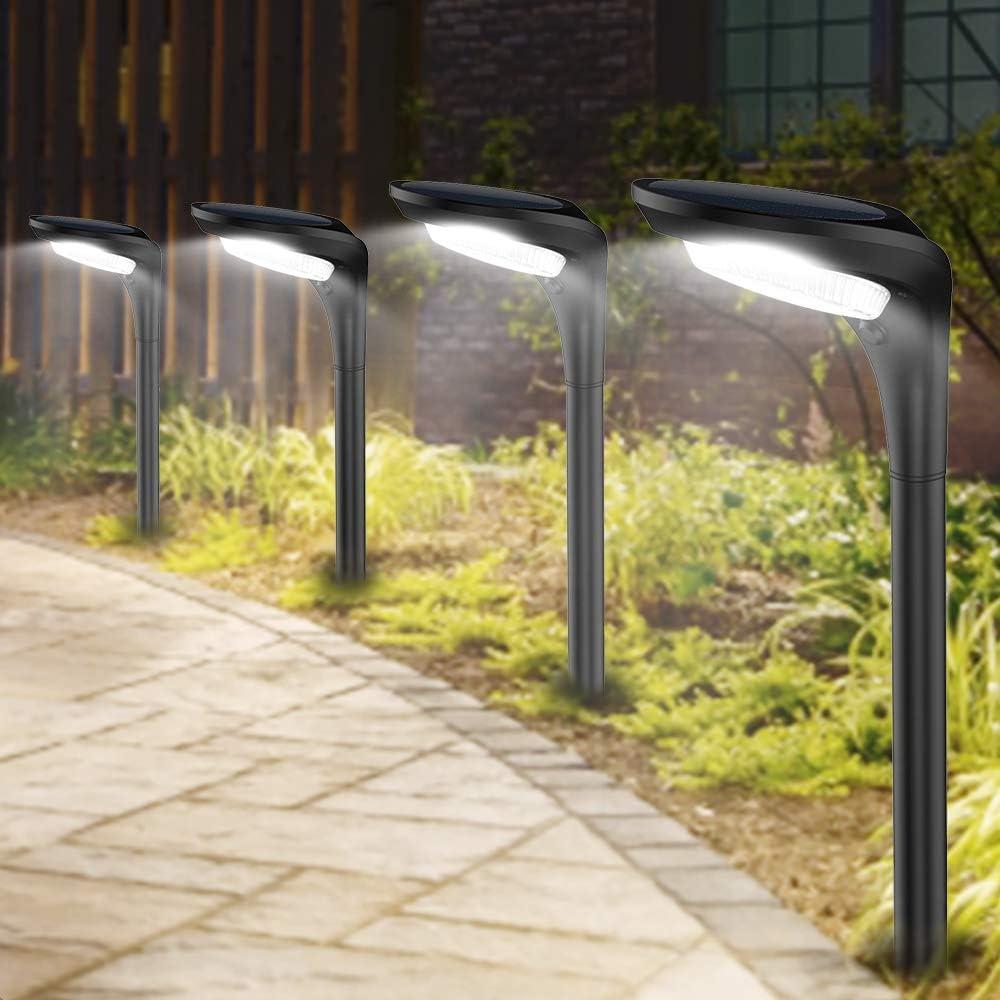 10Pcs Solar Paw Print Lights Path LED Garden Patio Yard Decor Walkway Cool White