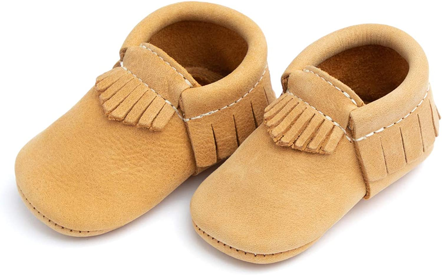 Multi-Color Soft Sole Leather Moccasins Baby Girl Boy Shoes Freshly Picked